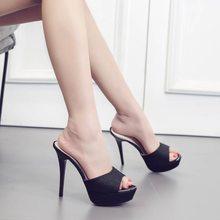 FeiYiTu Platform Women Slippers Shoes Thin Heel Ultra High Heels 13CM Nightclub Sexy Open Toe Sandals Woman Slipper Female Shoes цена