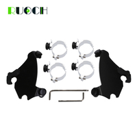 Motorcycle Accessories Memphis Gauntlet Fairing Black Trigger Lock Mount for Dyna Sportster XL 1200 883 1986 2016