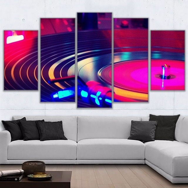 Wall Art Frame Canvas Hd Prints Painting 5 Pieces Dj Music