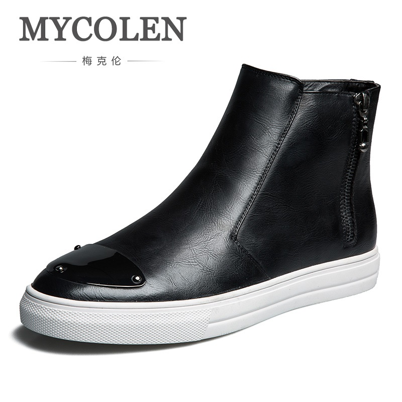 MYCOLEN Casual Shoes Mens Lightweight Spring Autumn Slip On Footwear Male Breathable Mesh High Top Outdoor Shoes Schuhe 2017 new arrival spring men casual shoes mens trainers breathable mesh shoes male hombre hip hop street shoes high quality