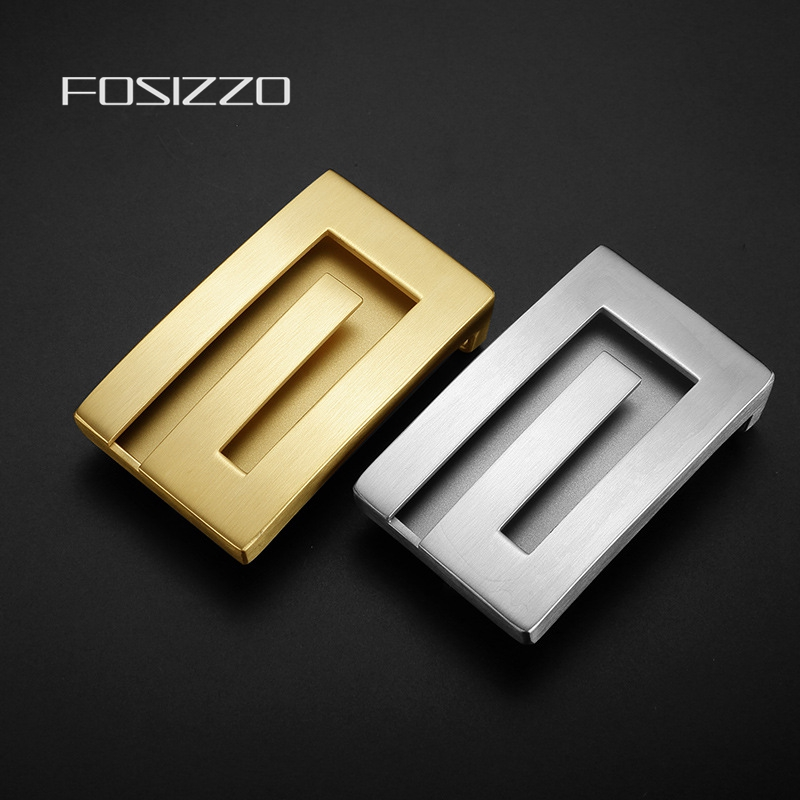 FOSIZZO High Quality Slide Buckle Stainless Steel Not Easy Rust And Paint Off Buckle Width 3.8CM (Fit 3.5-3.8CM Strap) ZG40