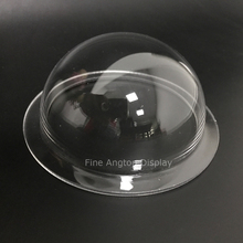 Clear 100mm Diameter acrylic jewelry display dome dust-proof with 1cm flange width without holes