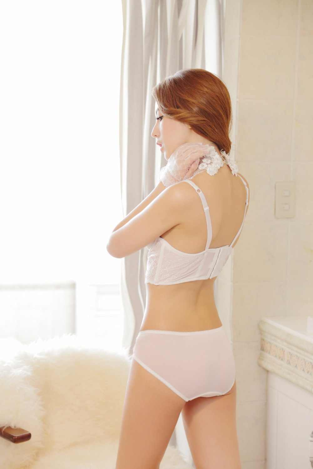 New arrival bra set high quality floral women underwear set sexy push up adjusted girls lingerie set solid color free size pants