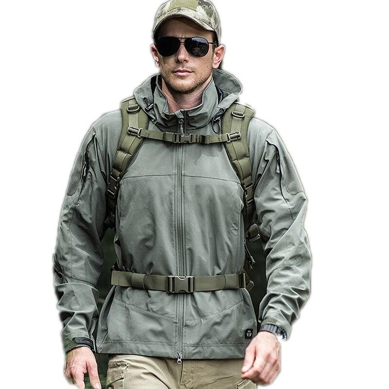 Blouse vent army kaki 2018 Tactique Hommes À Tops Col Nouveau Capuche Noir Vestes Stand Outwear Veste Coupe Imperméable Zipper Casual Doux Green H71ZxH