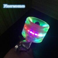 4pcs 60 X 45mm Transparent LED Light Skateboard Wheels 5Colors Riding Durable Longboard Skateboard Wheel