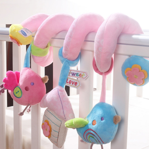 Soft Baby Toys Musicial Spiral Bed&Stroller Car Seat Hanging Rattle Educational Rattles Toys for Newborns Gifts 0-12 Months