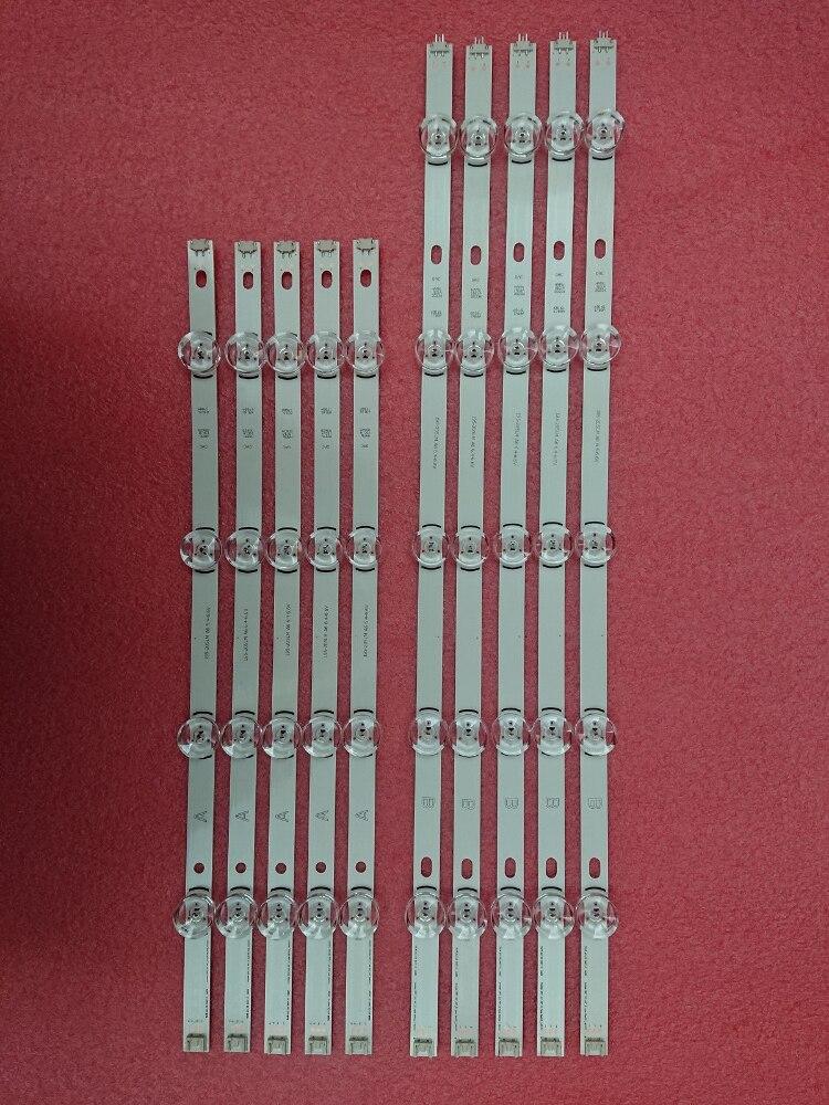 New 10 PCS set LED backlgith strip Replacement for LG 49LB5500 LC490DUE Innotek DRT 3 0
