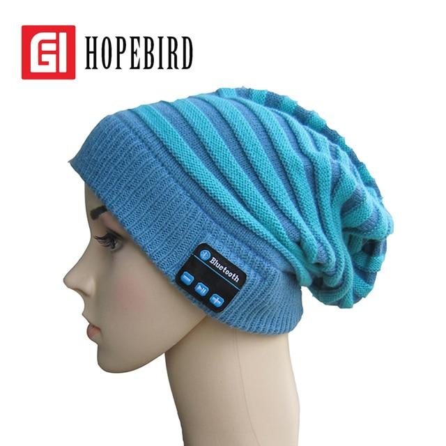 2017 Winter Warm Bluetooth Hat Knitted Cap Phone Music Fashion Women Men Spring