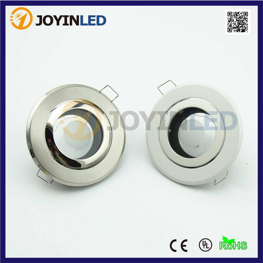 Бесплатная доставка 2 шт. круглый светодиодный прожектор держатель лампы GU10/MR16 GU5.3 светодио дный вниз огни установки/держатель лампы светильники Алюминий сплав