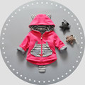 2017 Spring Autumn Hooded Girls Coats Outerwear Jackets for Baby Girl Brand Kids Clothing Infant Outfit Sport Clothes Cloth