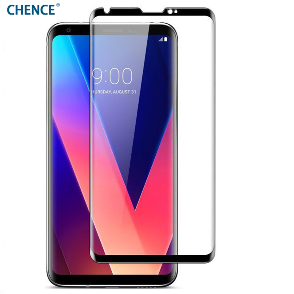 CHENCE 3D Curved Full Cover Tempered Glass for LG V30 Premium Quality Full Cover Case Screen Protector Film