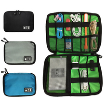 Outdoor Travel Kit Nylon Cable Holder Bag Electronic Accessories USB Drive Storage Case Camping Hiking Waterproof Organizer Bag