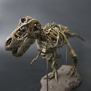 Image 3 - 4D Tier Modell Spielzeug Simulation Große Dinosaurier Fossil Tyrannosaurus Montieren die skeleton modell Spielzeug Dekoration