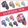 2016 Moda Magros Laços Gravata Fina Laços 6 cm Tecido Jacquard Gravatas De Seda para Homens Terno do Casamento Skinny Cravatte Corbatas
