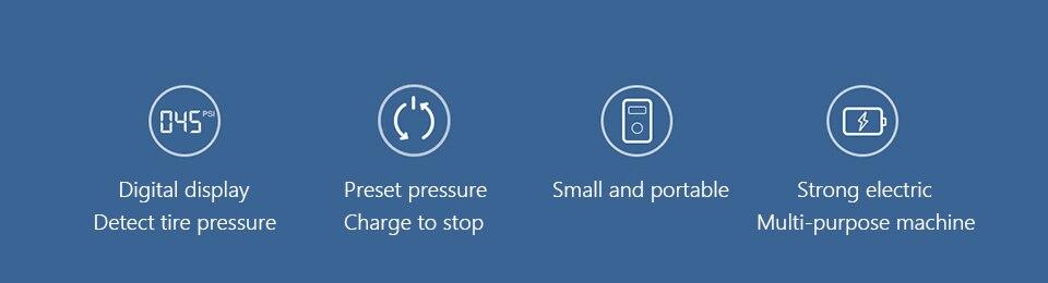 Elétrica Recarregável Digital de Detecção de Pressão
