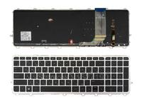 RU/Russian Laptop Keyboard for HP ENVY 15 j Series SILVER FRAME BLACK( BLACKlit, For Win8) PN: 9Z.N9HBV.40R 6037B0093222