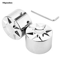 Mgoodoo New Aluminum Motorcycle Front Axle Nut Cover Cap Bolt For Harley Davidson Chrome Motorcycle Accessories