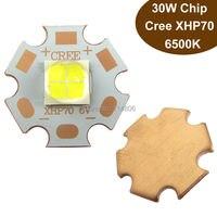 1pcs Cree XLamp XHP70 30W 6V 4A Cool Pure White 6500K 3000LM LED Flashlight Bulb Light