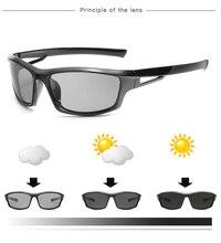 Hot Sale Driving Photochromic Sunglasses Men Polarized Chameleon Discoloration Sun glasses for men