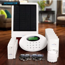 HOMSECUR Wireless GSM Home Security Alarm System +Wireless Solar Red Flash Siren