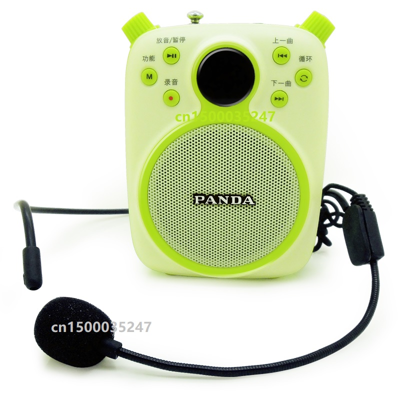 PANDA K2 small bees amplifier teacher guides teaching waist hanging high power speaker multifunction FM Radio TF card MP3 player-in MP3 Player from Consumer Electronics    1