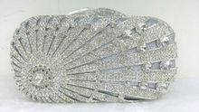 Freies verschiffen!! A15-66, silber farbe mode top kristallsteinen ring handtaschen für damen nette parteibeutel