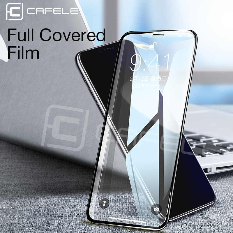 CAFELE Screen Protector For iphone X XS 3D Edge Full Cover Tempered Glass For iphone X 10 Seamless covering Anti Glare