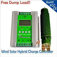 700w 12/24V 400W wind+300W solar MPPT hybrid Solar Wind Controller with 3 years warranty LCD Display free dump load