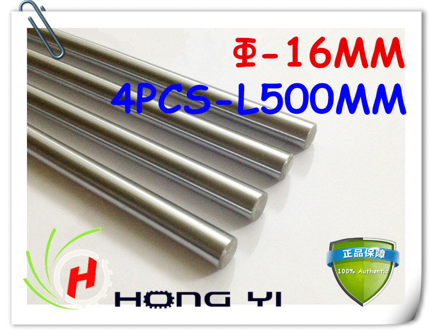 4pcs 3D Printer Rod Shaft 16mm-L500mm Chrome Plated Cylinder Linear Rail Round Rod Shaft Linear Motion Shaft for 3D R0108 диски helo he844 chrome plated r20