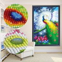 5D 3D DIY Large Size Special Shaped Diamond Embroidery Animal Peacock Full Diamond Painting Mosaic Decoration