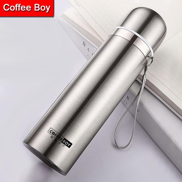 Кофе мальчик 500 мл 304 нержавеющая сталь термос для чая женские студенческие бутылка воды мини thermocup termos Термокружка термос