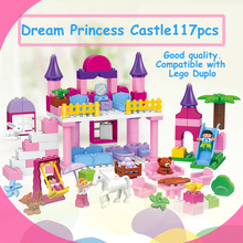 Juego de construcción | Castillo de princesas | Compatible con Duplo