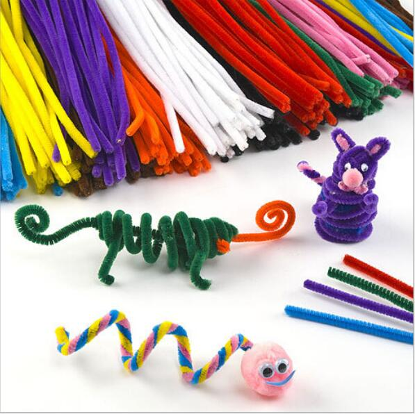 50pcs/Set Chenille Stems Colorful Sticks Kids Toy Kindergarten DIY Handcraft Material Creative Kids Educational Toys Wholesale