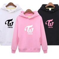 TWICE Kpop Printed Hoodies Women/Men Long Sleeve Fashion Hooded Sweatshirts Casual Fans Wear hoodies women sweatshirt women