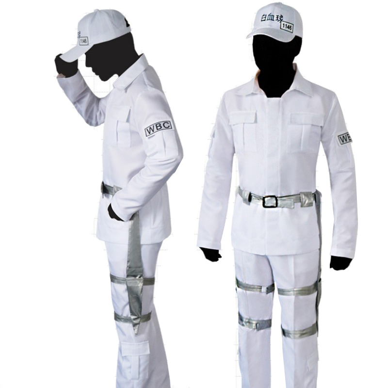 Anime Cells At Work Hataraku Saibou Leukocyte Cosplay Costume White Blood Cell Uniforms Halloween Carnival Outfits Custom Made