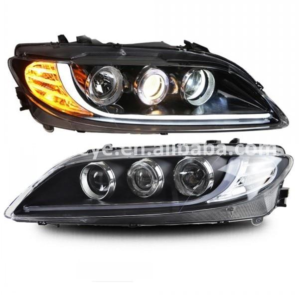 7e8b7c88a815c ΞMAZDA 6 M6 LED Strip Head Light angel eye head lamp 2003-2013 ano ...