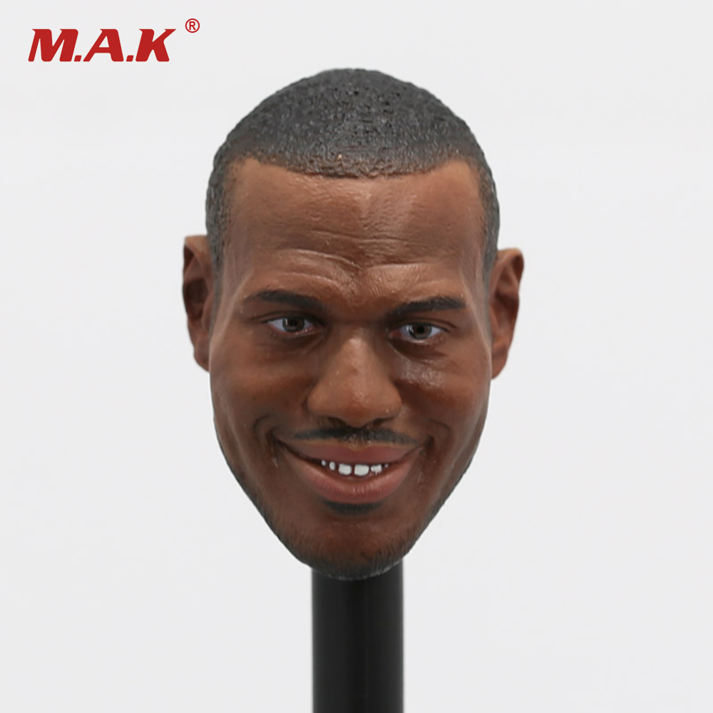 1/6 Scale Male Basketball Star Head Sculpts LeBron James Mini Head Carving Model Toys For 12 Male Action Figure