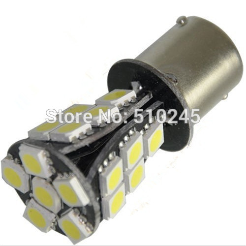 10x hot sales 12V 1156 BA15S 21 SMD 5050 Amber Yellow CANBUS OBC No Error Car 21 LED Light Bulb free shipping