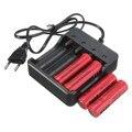 НОВЫЙ ЕС plug 4 Слота Умный Зарядное Устройство с защита от короткого замыкания Для 4X18650 литий-ионная аккумуляторная батареи