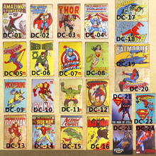 Shabby chic Super Hero Hulk Vintage Metal Tin Signs Home Decor Vintage Art Poster Bar Pub Wall Decorative Plates