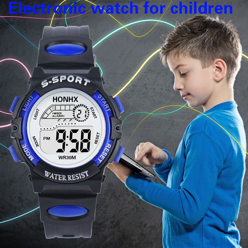 Fashion Child Digital LED Analog Quartz Alarm Date Sports Wrist Watch Smart Kids Sport Watches For Teenagers Waterproof Gifts