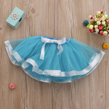 Baby Girl Clothes Pink Tutu Skirt Cute Ballet Skirts Fancy Birthday Party High Quality Baby Girls Kids Solid Tutu Skirt T(China)