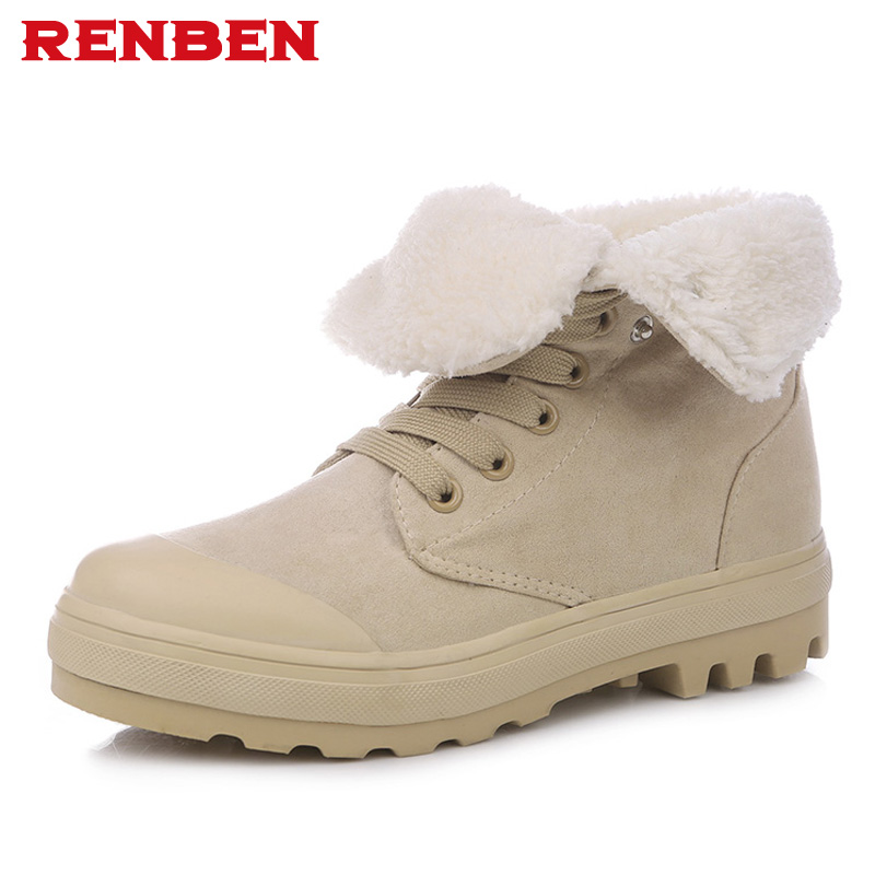 2018 Fashion Women Winter Snow Boots keep Warm Boots Plush Ankle boot Snow Work Shoes Women's Outdoor Snow Boots 36-47 2017 cow suede genuine leather female boots all season winter short plush to keep warm ankle boot solid snow boot bota feminina