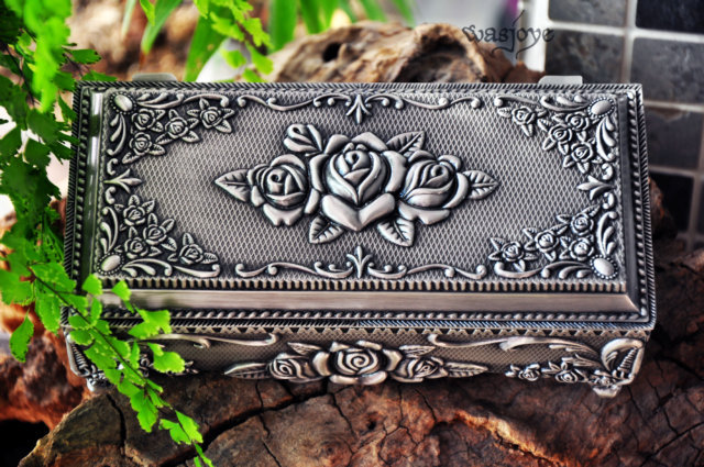 Free shipping big size 7 Metal jewelry box trinket boxhot sellig