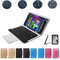 2 Gifts+8 Inch Universal Bluetooth Keyboard Case for HuaWei MediaPad T1 8.0 S8-701U S8-701W Keyboard Language Customize Freeship