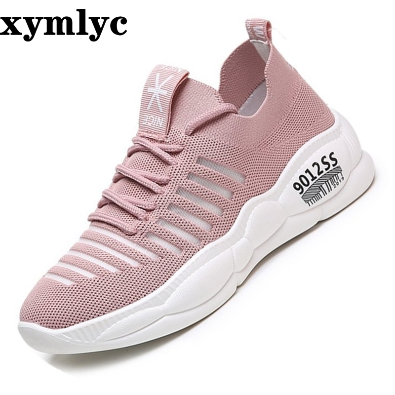 2019 new summer women's casual Breathable shoes female students Weaving mesh mesh shoes wild casual platform mujer(China)