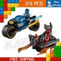 219 unids ninja new10579 desierto rayo diy bloques de construcción modelo de parque infantil juguetes compatibles con lego