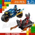 219pcs Ninja New10579 Desert Lightning DIY Model Building Blocks Playset Toys Compatible with Lego