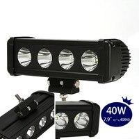8inch 40w Led Light Bar Spot Beam Offroad Work Light Off RoadDriving Bar 4x4 12v 24v