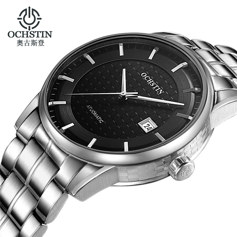 Ochstin Clcok Men Automatic Mens Watches Top Brand Luxury Full Steel Business Men's Mechanical Wrist Watch Relogio Masculino A